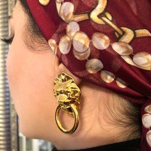 Vintage Lion's head earrings (clip-on)